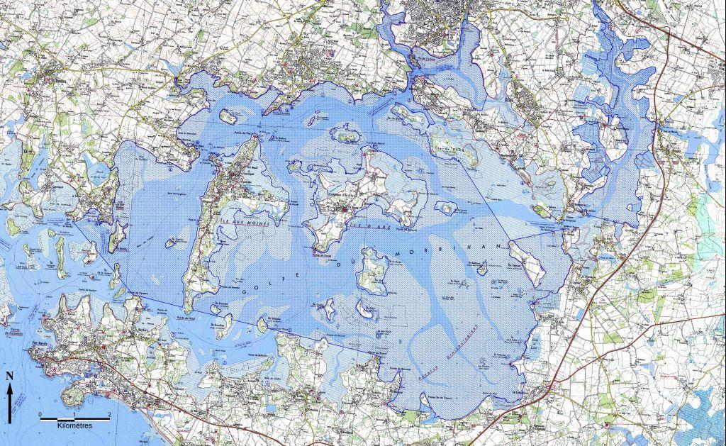 carte marine golfe du morbihan