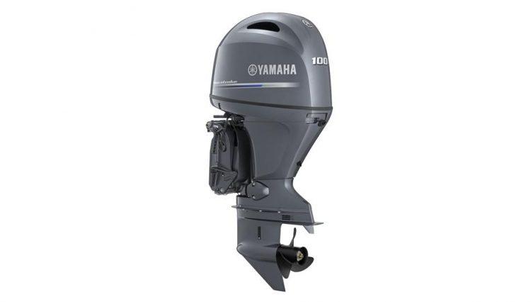 vente de moteur neuf Yamaha F100 DETL-EFI vue du moteur