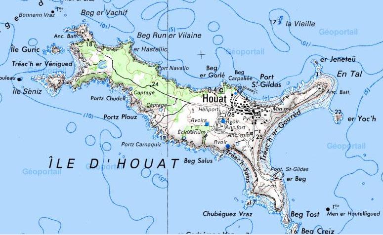 L'île d'Houat fait partie du regroupement des Îles du Ponant. Cette petite île de pêcheurs se situe en Bretagne, sur la côte morbihannaise
